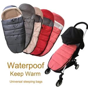 Image 1 - אוניברסלי תינוק עגלת אביזרי חורף גרבי שינה תיק Windproof חם Sleepsack תינוק Pushchair Footmuff עבור Babyzen yoyo