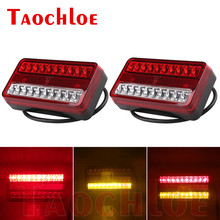 2Pcs 12V LED Tail Light For Truck Trailer Lorry Tractor Rear Lamp Stop Turn Signal Tail Lamps Running Lights