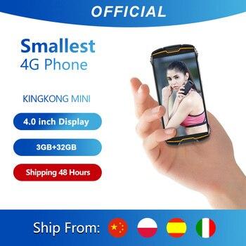 """Cubot KingKong MINI 4 """"QHD + 18:9 Dello Schermo Telefono Cellulare Robusto Impermeabile 2000mAh 4G LTE Dual-SIM 3GB + 32GB Android 9.0 Outdoor Cellulare Macchina Fotografica di Retrovisione di 13MP Smartphone Antiurto 1"""