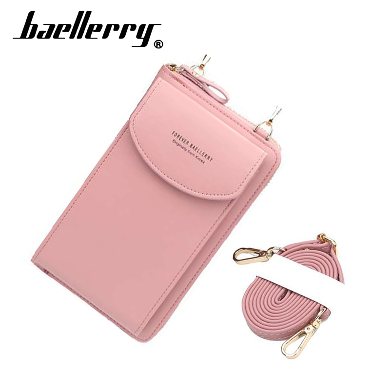 2019 Forever baellerry women wallet vertical crossbody mobile phone wallet zipper clutch wallet