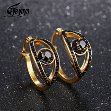 EyeYoYo Zircon Eyeball Charming Eyes Earring Women Tiny Hoop Earrings Korean Style