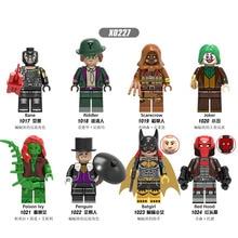 Single Sale Building Blocks Avengers Super Heroes Scarecrow Joker Bane Riddler Bricks Figures For Children Collection Toys X0227 стоимость