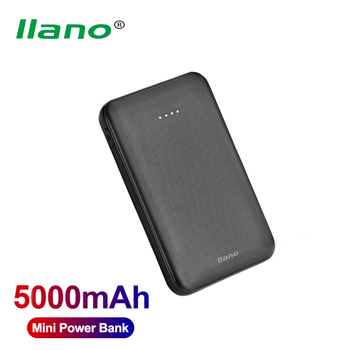 Llano Power Bank 5000mAh Portable Charger External Mobile Battery Fast Phone Charger for Phone Mini Powerbank Dual USB Poverbank image