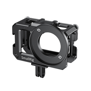 Image 2 - SmallRig Vlog Cage for DJI Osmo Action (Compatible w/ Microphone Adapter) Compatible w/ the CYNOVA Dual 3.5mm USB C Adapter 2475