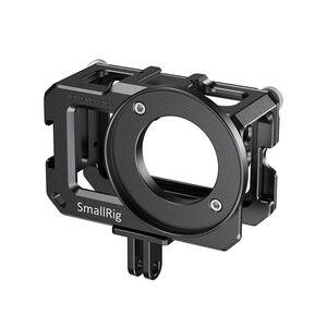 Image 2 - SmallRig Vlog kafesi DJI Osmo eylem (uyumlu w/mikrofon adaptörü) uyumlu w/CYNOVA çift 3.5mm USB C adaptörü 2475