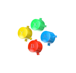 Myriann Replacement Shell Colorfull Buttons For Nintend Switch Pro Controller NS (only Buttons)