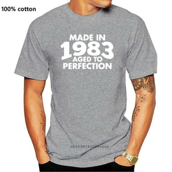 Printed Customized Made In 1983 Teesome Tshirt Man Kawaii Unisex Gray Novelty Men's T Shirts 2020 Plus Size S-5xl