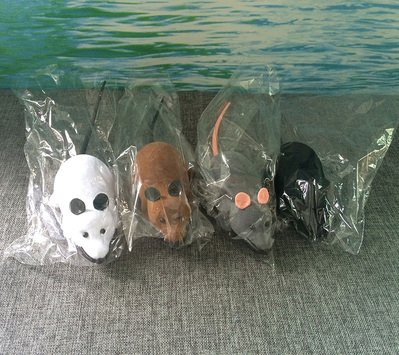 Electric Model Mouse Plush Pet Toy Cat Toy Mouse Wireless Remote Control Play With Cat Mouse Toy