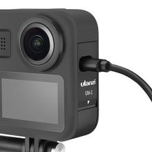 Gopro max 배터리 커버 용 ulanzi GM 2 배터리 뚜껑 gopro max 카메라 액세서리 용 배터리 도어 충전 포트
