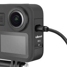 Ulanzi GM 2 แบตเตอรี่ฝาปิดสำหรับ GoPro MAX แบตเตอรี่แบตเตอรี่พอร์ตชาร์จสำหรับ GoPro กล้องสูงสุดอุปกรณ์เสริม