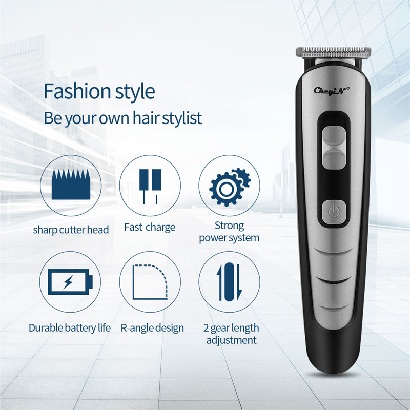 Professional Rechargeable Hair Clipper With 4 Heads Hair Trimmer Men Barber Hair Cutting Machine Hair Shaver Tool Hair Trimmer 3
