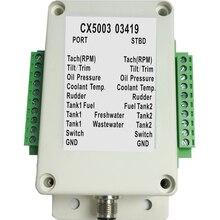 NMEA 2000 Multifunktions Konverter Verbinden Bis zu 18 Sensoren 0 190 ohm CX5003 NMEA2000 Konverter Für Boot Yacht Marine sensor