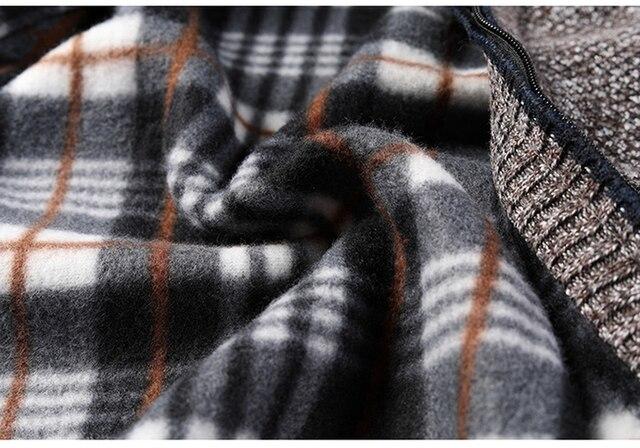 AIOPESON 2020 Autumn Winter New Men's Jacket Slim Fit Stand Collar Zipper Jacket Men Solid Cotton Thick Warm Jacket Men 6