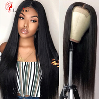 4x4 Lace Closure Wig Peruvian Straight Wig Glueless Lace Closure Wig Remy Human Hair Wigs For Black 180 Density Beauty Lumina