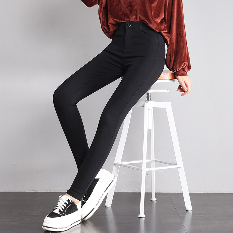 Magic Black And White With Pattern Ankle-length Leggings Women's Outer Wear Skinny Spring And Summer 2019 New Style High-waisted