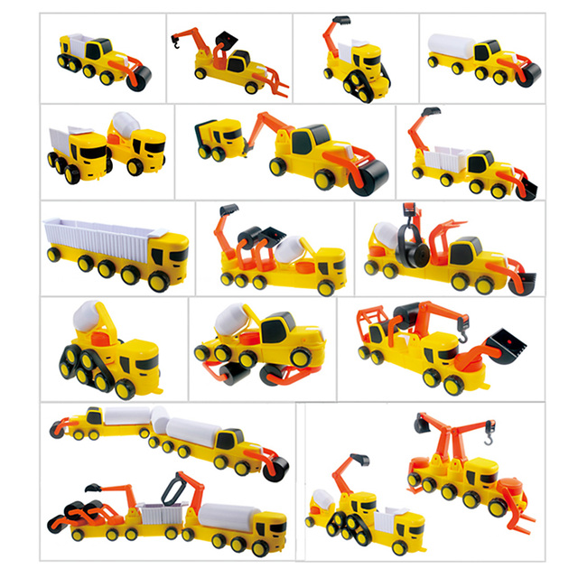 MAGFUN Age 3 Kids 49Pcs Magnetic Car Vehicle Construction Engineering Building Construction Toys Christmas Gift
