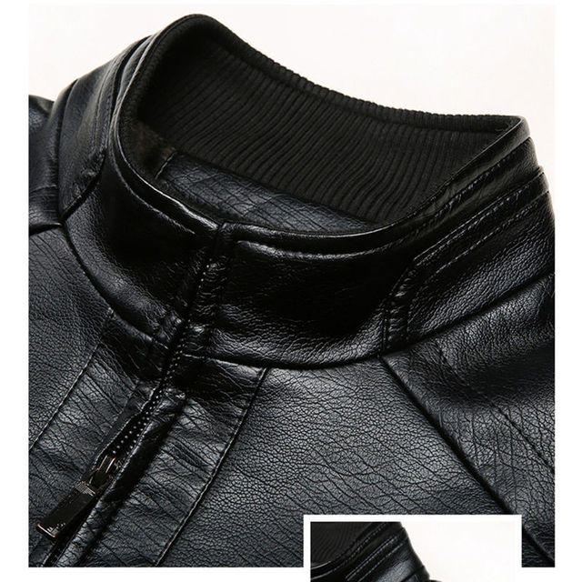 Brand Men Jacket 2020 New Spring Fall Soft Leather Jackets For Man Clothing Long Sleeves Coat Fashion Korean Style Thin Clothing 4