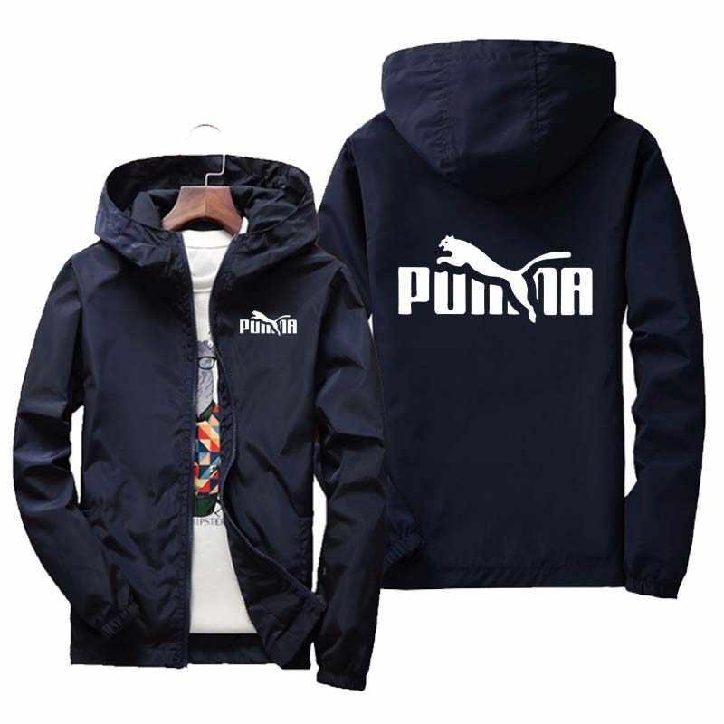 봄과 여름 새로운 PUMBA 파일럿 재킷 남성과 여성 캐주얼 스포츠 용 재킷 지퍼 얇은 섹션 후드 남성 재킷 M-7XL