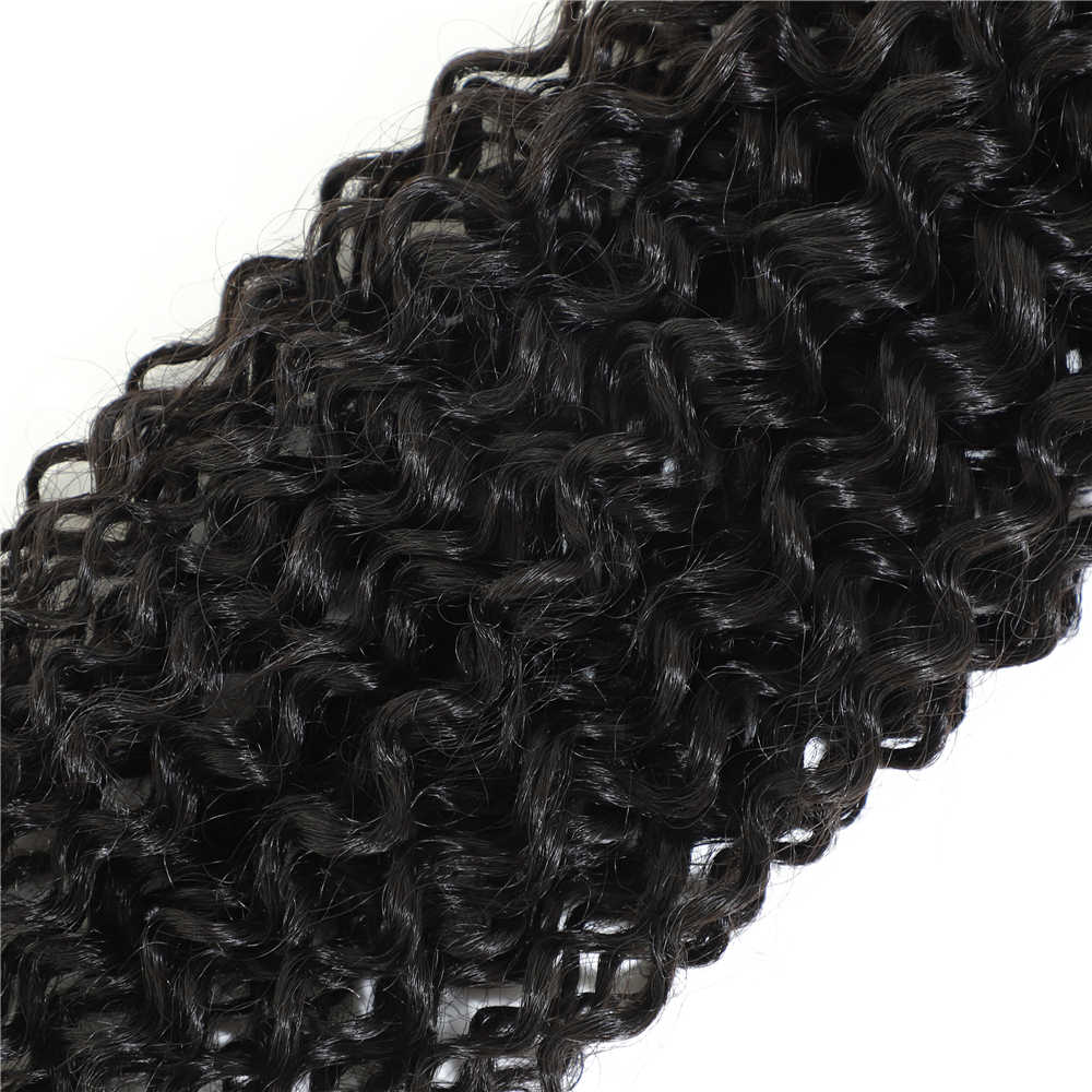 Live Beauty Afro kinky Hair Bundles 8 Bundles/pack 240g All In One Natural Color Synthetic Hair Weave Jerry Hair Extension