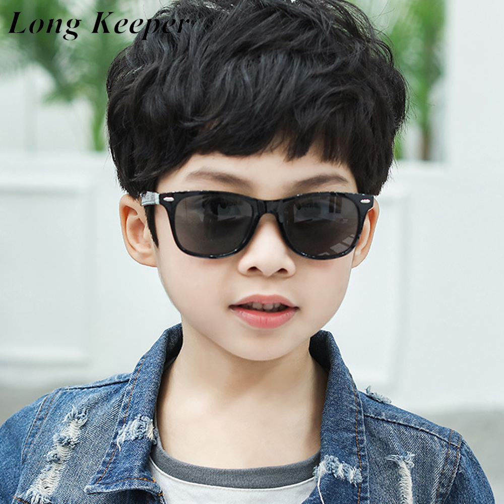 2020 Kids Rivet Square Sunglasses Boys Girls Cool Colorful Coating Lens Sun Glasses Children Fashion Mirror Eyewear UV400 Gafas