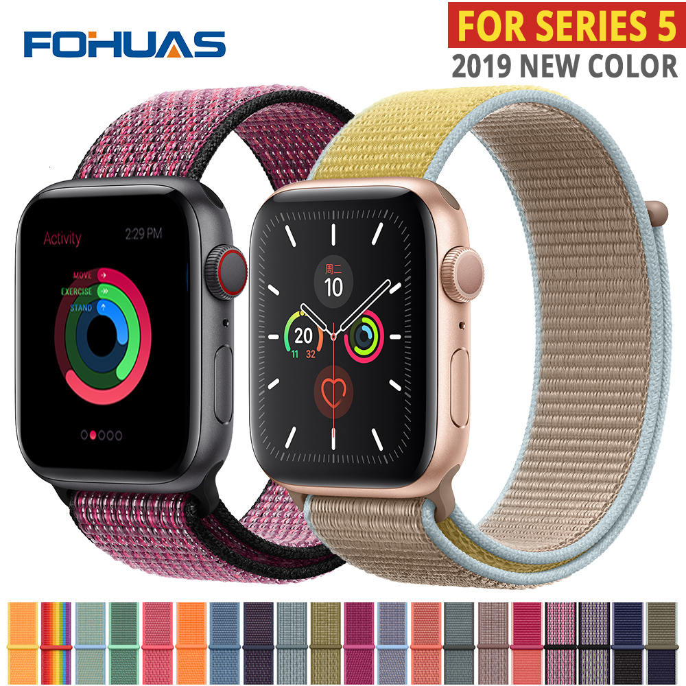 Nylon Strap For Apple Watch Band Series 5 Iwatch 44mm Strap 38 Mm 44mm 40mm Iwatch Sreies 4 3 2 Pulseira Bracelet Watchband Belt