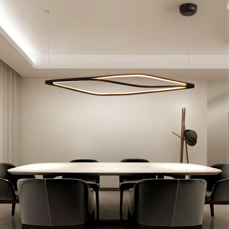 Современные светодиодные подвесные светильники для столовой, бара, магазина, подвесная Подвесная лампа для гостиной, офиса, дома, деко, 90 260