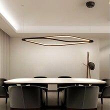 Luces led colgantes modernas para comedor, bar, tienda, lámpara colgante para sala de estar, oficina, hogar, deco, 90 260V, mate, negro/blanco