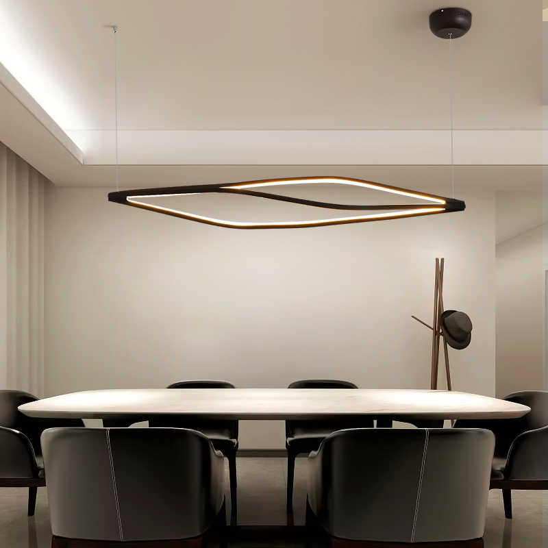 Modern Led Pendant Lights For Dining Room Bar Shop Hanging Pendant Lamp Living Room Office Home Deco 90-260V Matte Black/White