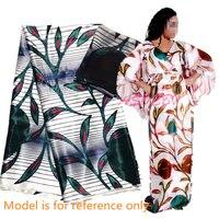 Nigerian ankara fabrics satin silk fabric new african wax pattern design high quality silk fabric for dress