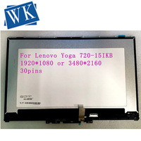 15.6 for lenovo yoga 720 15 FHD UHD monitor touch digitizer panel +frame bezel +led lcd screen B cover assembly display