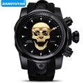 Мужские часы с 3D пиратским черепом, кварцевые часы топ бренда, мужские военные силиконовые спортивные мужские часы, водонепроницаемые мужс...