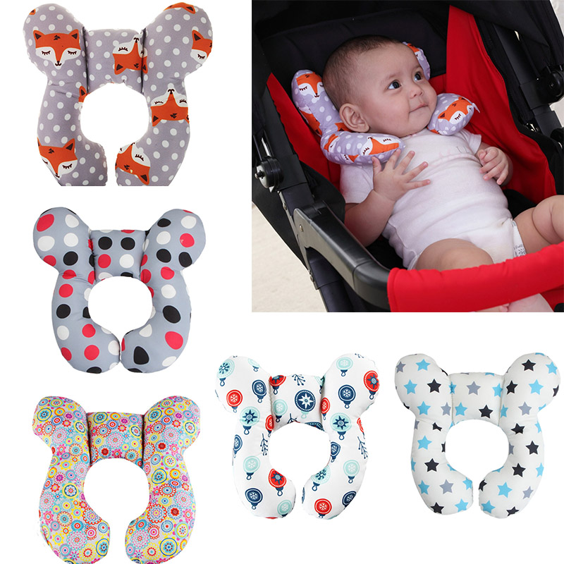 Baby Neck Support Pillow Travel Car Seat Infant U Shape Headrest Head Protection