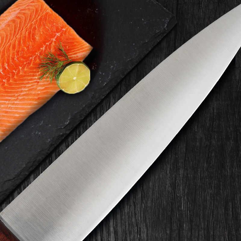 CHUN 7Cr17mov noże kuchenne ze stali nierdzewnej mięso łosoś nóż do krojenia Razor ostre noże szefa kuchni japońskie Sushi Sashimi narzędzia