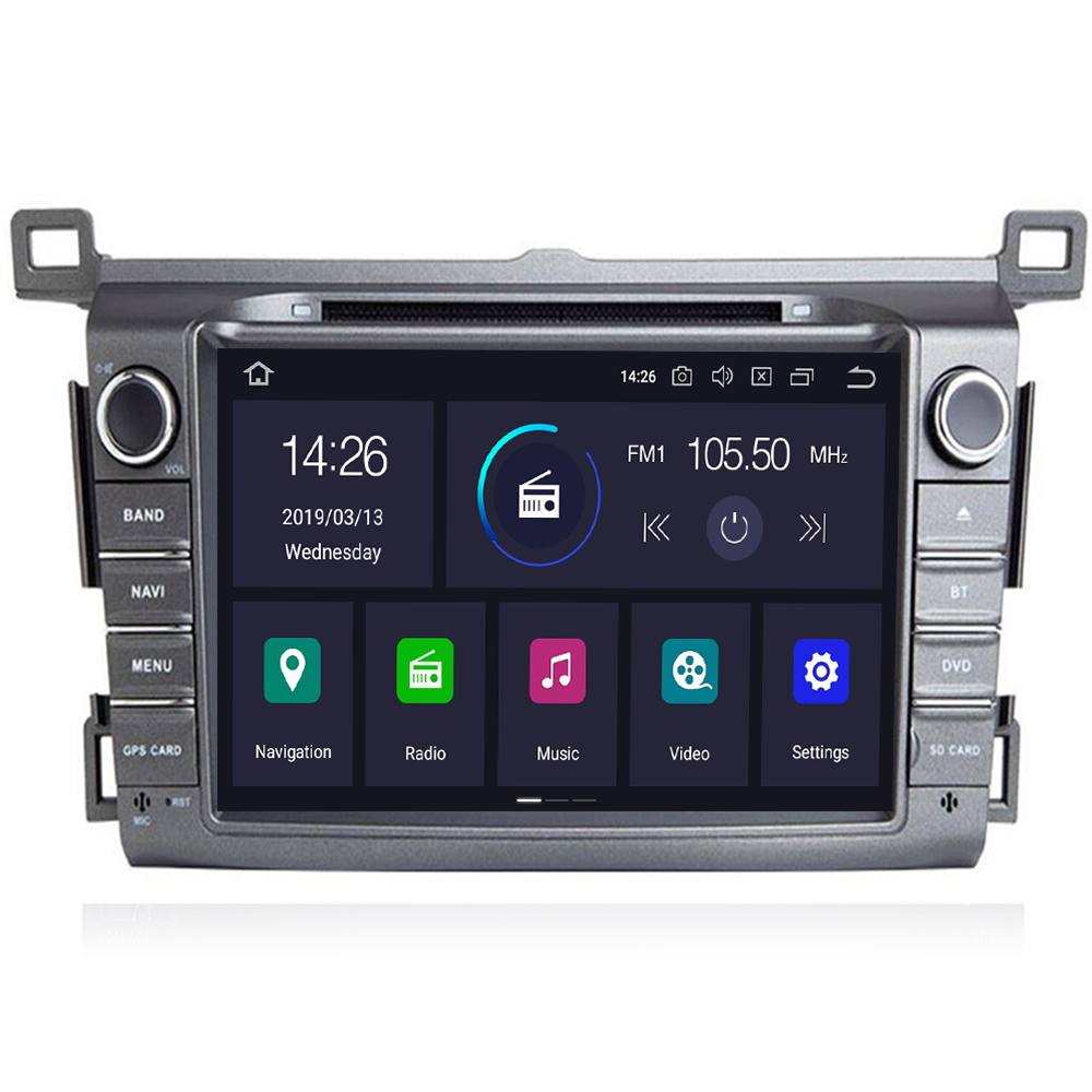 4G 64G DSP IPS 2 Din Android 9 car multimedia dvd player GPS for <font><b>Toyota</b></font> <font><b>RAV4</b></font> <font><b>Rav</b></font> <font><b>4</b></font> 2013 <font><b>2014</b></font> <font><b>2015</b></font> <font><b>2016</b></font> <font><b>2017</b></font> -2019 car radio OBD2 image