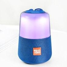 חכם LED פלאש אור Bluetooth רמקול נייד מיני חיצוני סאב 1200 MAh מוסיקה תיבת FM רדיו לילה אור לעזור תינוק שינה