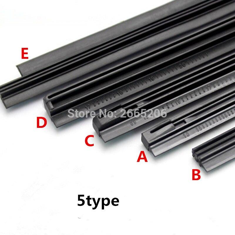 26/'/' 6mm Rubber Frameless Windshield Wiper Blade Refill For Toyota Honda Ford
