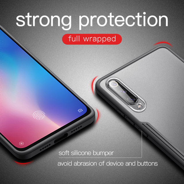 Msvii For Xiaomi Mi 9 Case Slim Matte Airbags Shockproof Back Cover Cases For Xiaomi Mi9 Mi 9 Se Phone Bag Case Luxury Bumper