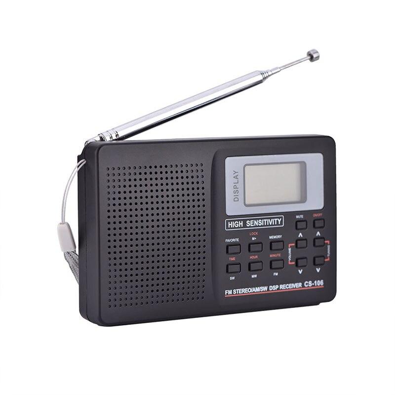 Tragbare Digitale Welt Voller Band Radio Empfänger AM/FM/SW/MW Radio mit Externe Antenne LHB99