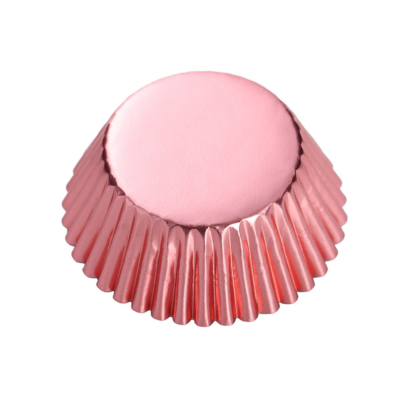 Free Shipping 100pcs Gold Silver Red Rose Green Blue Foil Paper Cupcake Liners Pure Color Cup case Wrappers Cake  Baking Cups decorate tea cup cup pullcup led - AliExpress