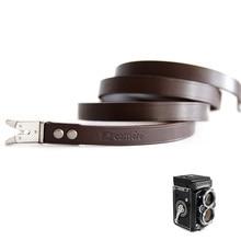 Bandoulière en cuir pour Rollei Rolleiflex double lentille 3.5F 3.5E 3.5E1 3.5E3 3.5T 3.5C 2.8F 2.8E 2.8E2 2.8FX TLR caméra