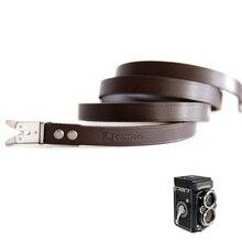 עור כתף צוואר רצועת עבור Rollei Rolleiflex Twin עדשת 3.5F 3.5E 3.5E1 3.5E3 3.5T 3.5C 2.8F 2.8E 2.8E2 2.8FX TLR מצלמה