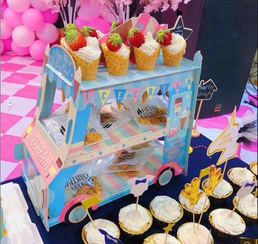 1 قطعة شاحنة مثلجات موقف سيارات عرض موقف استحمام الطفل حفل زفاف ديكور كعكة الحلوى الكعك صينية العرض ديكور عيد