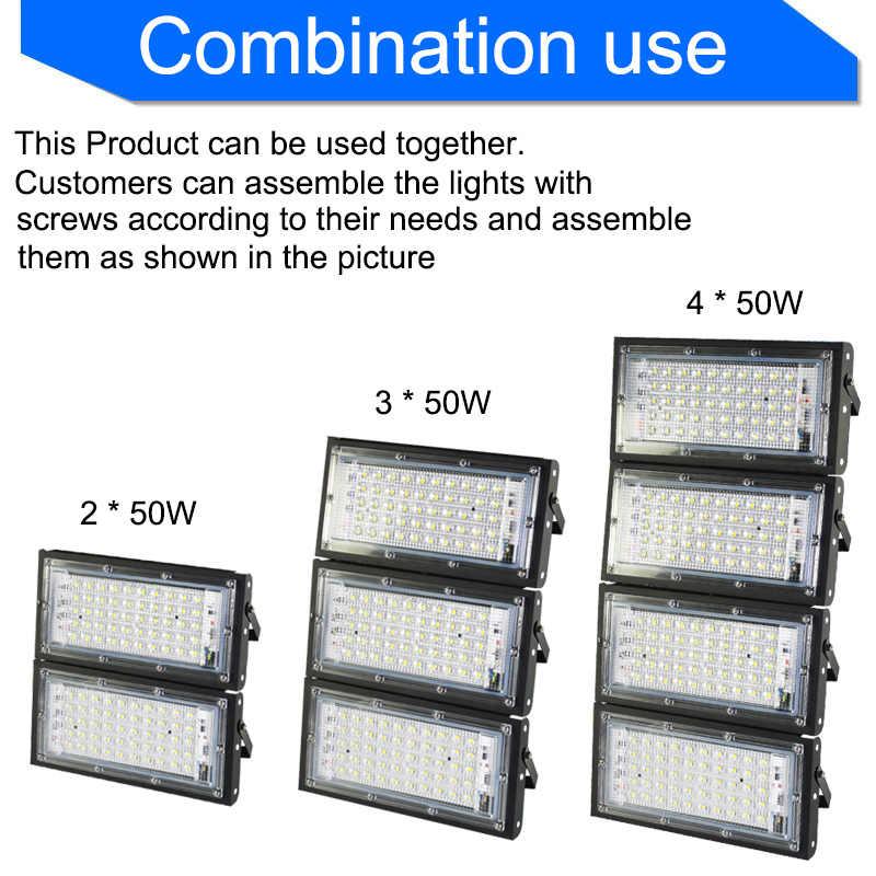 Lampu Sorot LED 50W Kekuatan Nyata RGB Lampu Sorot Lampu Jalan LED 220V 240V Tahan Air Pemandangan Lampu Outdoor IP65 LED Lampu Sorot