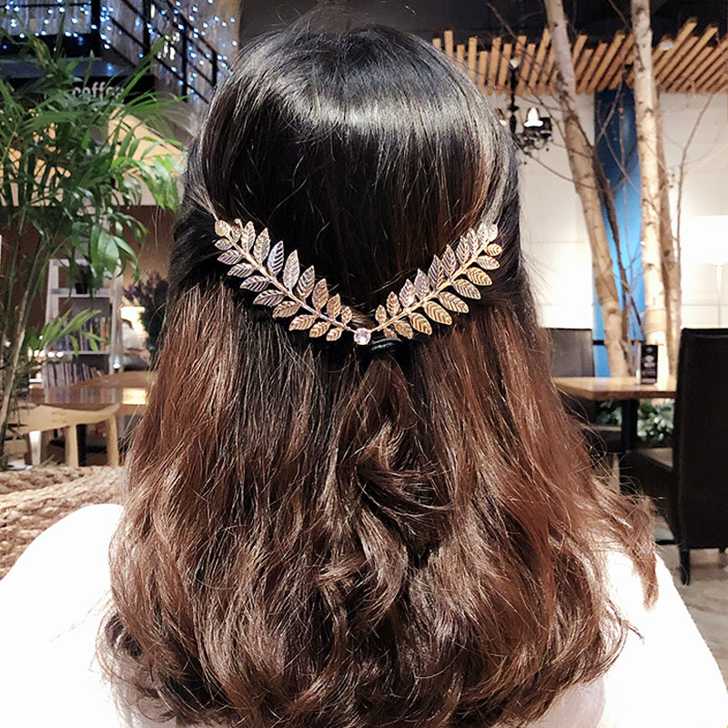 1PC New Arrival Fashion Headbands For Women Crystal Alloy Hairbands Back Holder Headwear Girls Lovely Hair Band Hair Accessories
