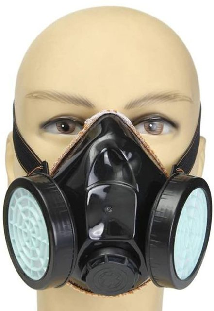 Anti-Dust Masks Gas Spray Paint Dual Respirator Industrial Chemical Mask