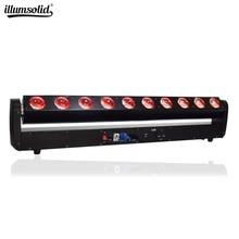 LED 단일 제어 이동 헤드 스캔 빛 10x40W RGBW 4in1DMX512 DJ 프로젝터 조명 바 파티 KTV 홈 웨딩 효과 램프