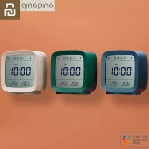Image 1 - Youpin Qingping Bluetooth Temperature Humidity Sensor Mijia Night Light LCD Alarm Clock Mihome App control Thermometer
