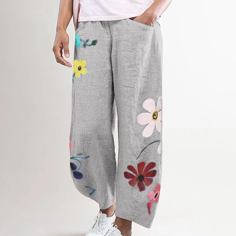 Harem Pants Women Wear Plus Size Ankle Split Pants Split pant Belly Dancing C19