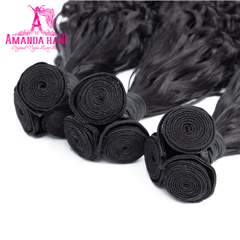 Amanda Double Drawn  with Closure 4x4 Funmi Deep Curly  Virgin Hair Bundles With Closure  4