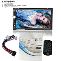 6.95 Inch Car MP4 CD Players Universal Bluetooth 2 Din High Definition Touch Screen Auto Stereo Vehicle Radio DVD Player 6060B